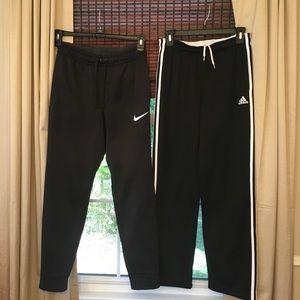 Both:Adidas boys(lg14/16) ,Nike Men Therma Fit(SM)